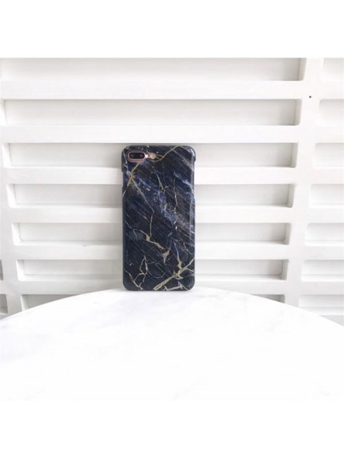 Bronzing Marble iPhone Case - Black