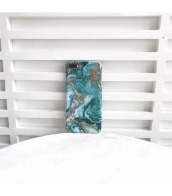 Bronzing Marble iPhone Case - Emerald