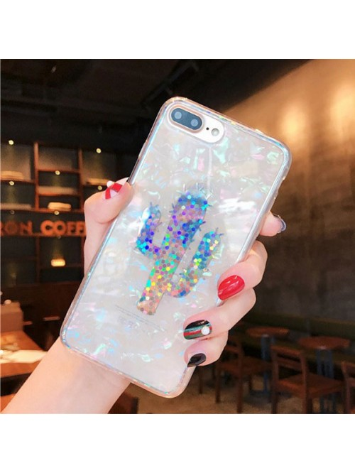 Colorful Laser Shell Effect iPhone Case - The Cactus