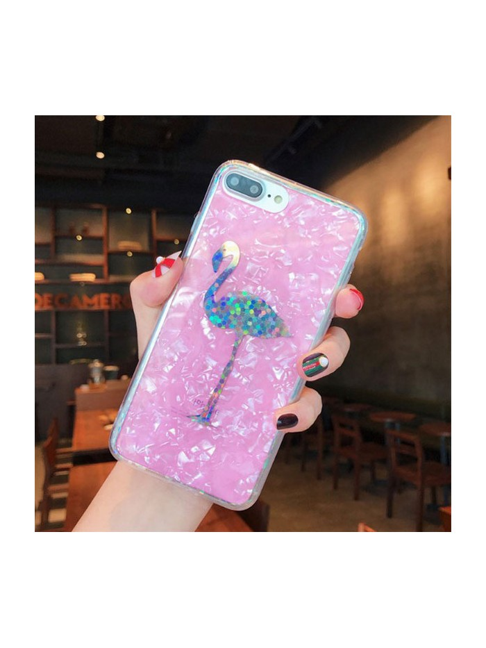 Holographic Shell Effect iPhone Case - The Flamingo