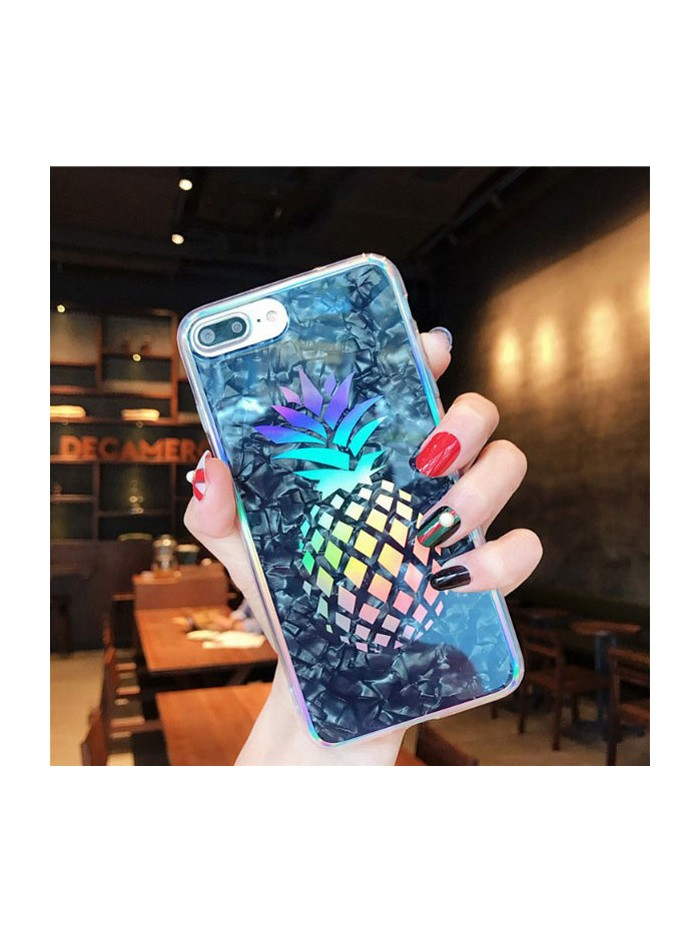 Colorful Laser Shell Effect iPhone Case - The Pineapple