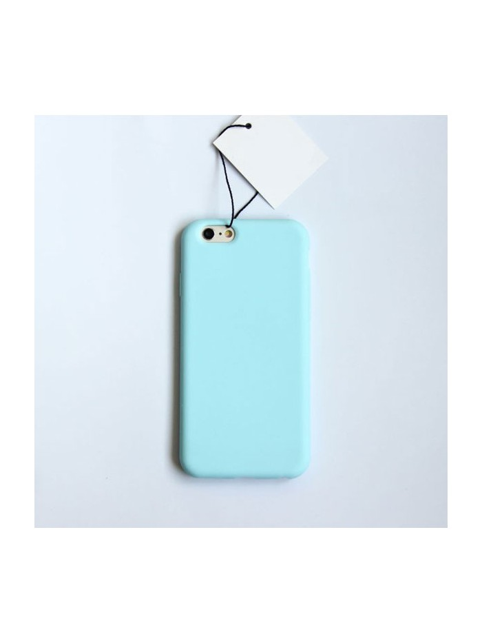 Minimalist Solid Color iPhone Case - Sky Blue