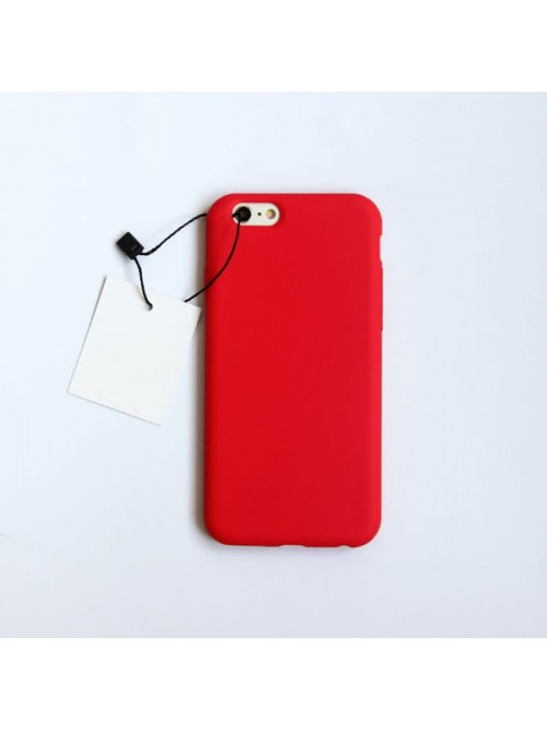 Minimalist Solid Color iPhone Case - Bright Red