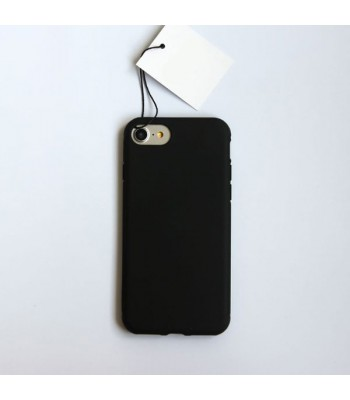 Minimalist Solid Color iPhone Case - Midnight Black