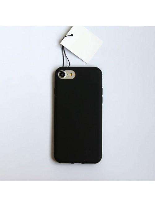 Minimalist Solid Color iPhone Case - Midnight Black