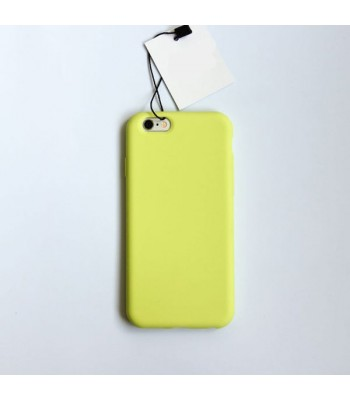 Minimalist Solid Color iPhone Case - Lemon Yellow