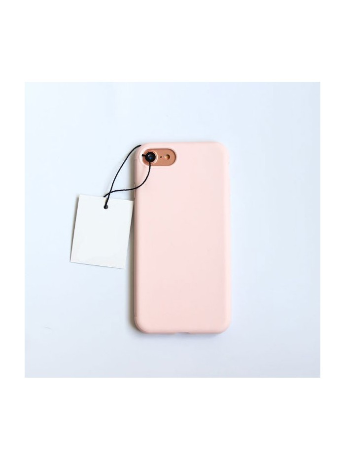Minimalist Solid Color iPhone Case - Candy Pink