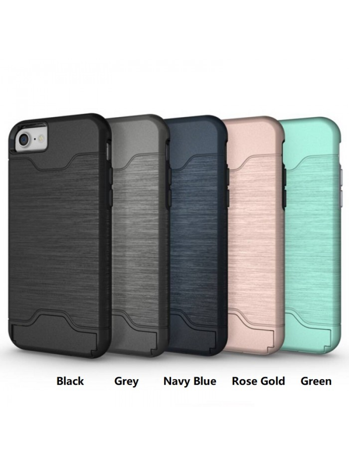 Luxury Brushed Detachable Case With Hidden Card Slot for iPhone 6/7/Plus