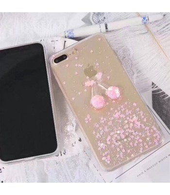 Glitter iPhone Case - Pink Cherry