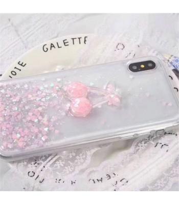 Glitter iPhone Case - Pink Cherry