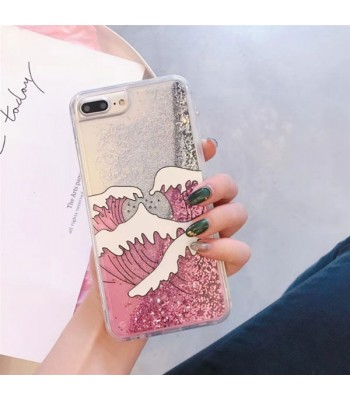 Glitter iPhone Case - Pink Wave