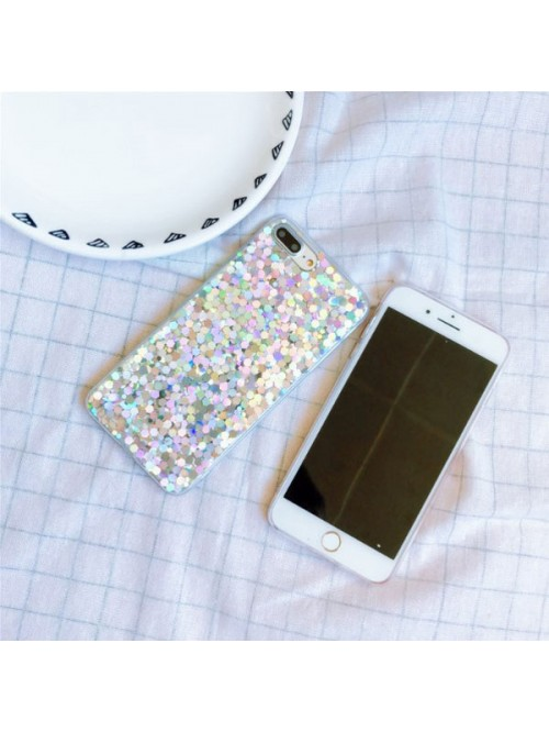 Glitter Sequins iPhone Case - Sparkle Silver