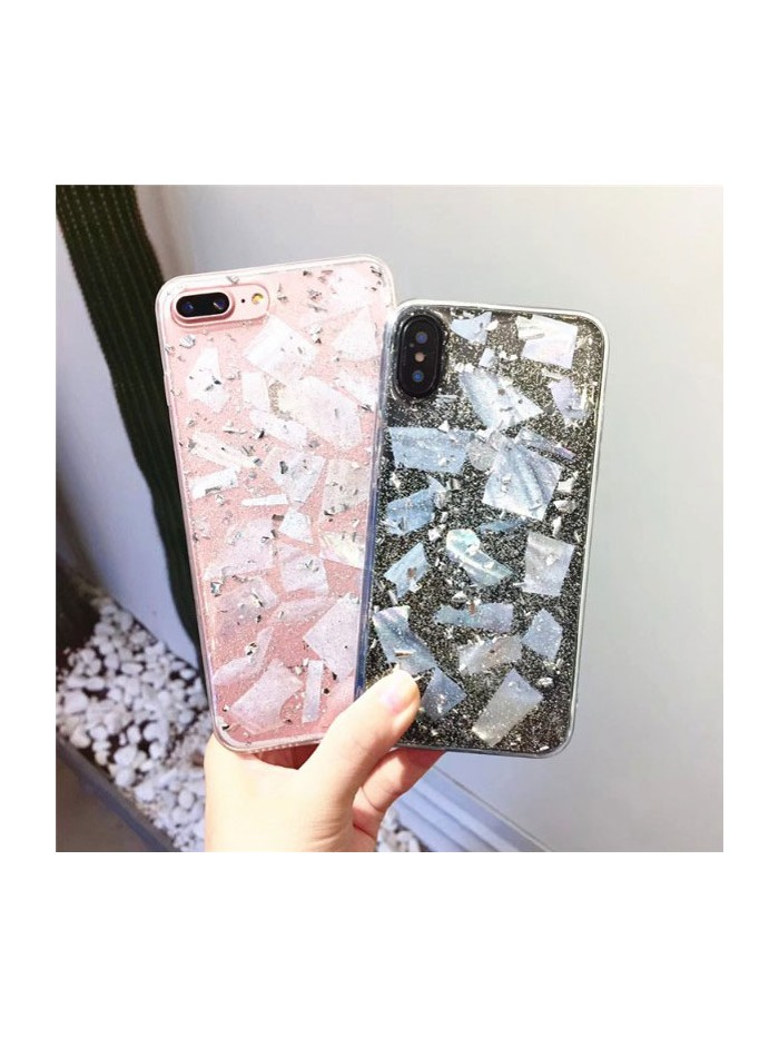 Sparkle Gold Flakes Clear iPhone Case