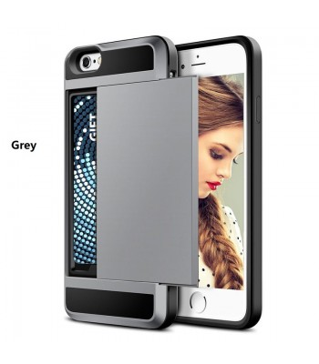 Dual Layer Protective Case With Hidden Card Slot For iPhone 6/7/Plus