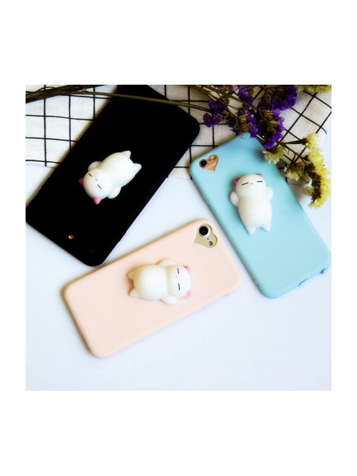 3D Squishy Cat phone Case for iPhone 7/8 Plus