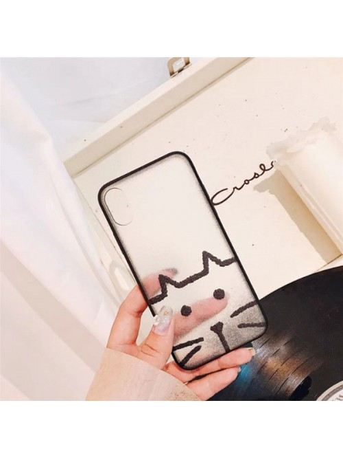 Matte Cartoon iPhone Case - Kitten