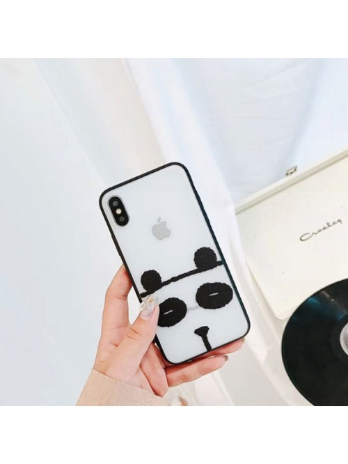 Clear Matte Cartoon iPhone Case - Panda