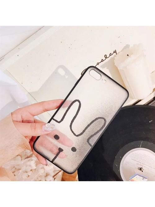 Clear Matte Cartoon iPhone Case - Rabbit