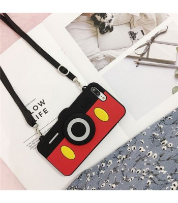 Cute Camera iPhone Case With Lanyard