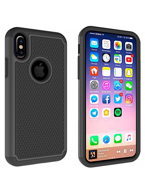 3 in 1 Hybrid Silicone Football Line Shockproof Case For iPhone X
