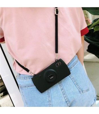 Camera iPhone Case With Lanyard - Black