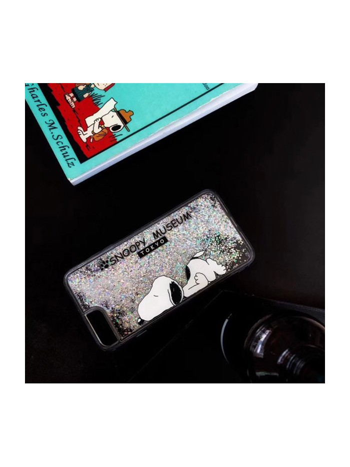 Liquid Quicksand Glitter iPhone Case - Snoopy