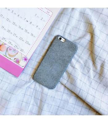 Grey Furry iPhone Case