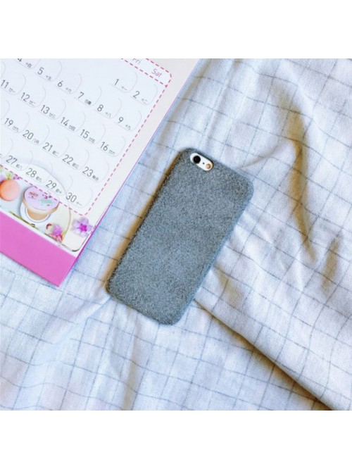 Grey Furry iPhone Case