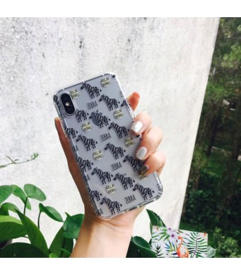 Cute Cartoon Relief iPhone Case - Zebra