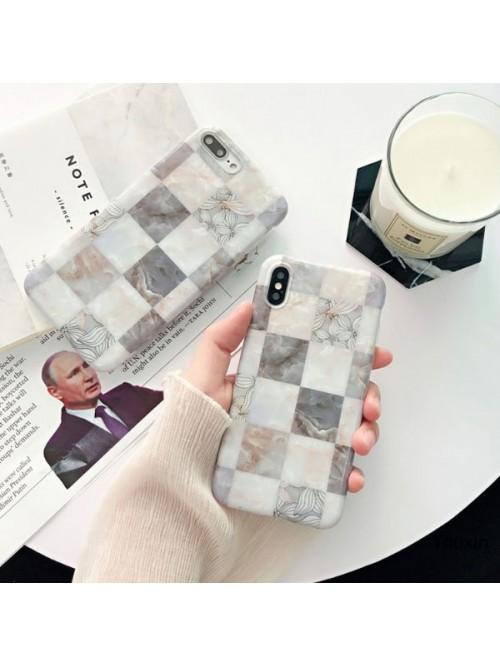 Geometric Lattice Marble iPhone Case