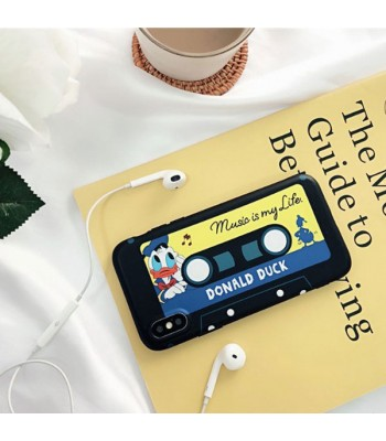 Cute Cartoon Cassette Tape iPhone Case - Donald Duck