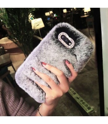Fluffy Furry iPhone Case - Grey