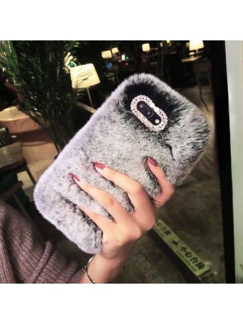 Fluffy Furry iPhone Case - Grey