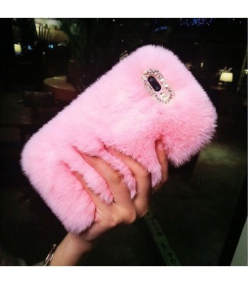 Fluffy Furry iPhone Case - Pink
