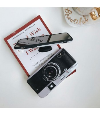 Retro Camera iPhone Case With Pop-out Finger Grip For iPhone X/Xs
