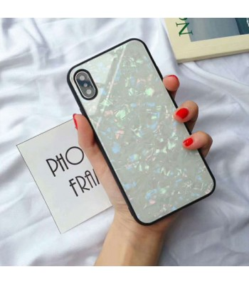 Conch Shell Effect Tempered Glass iPhone Case For iPhone X/Xs
