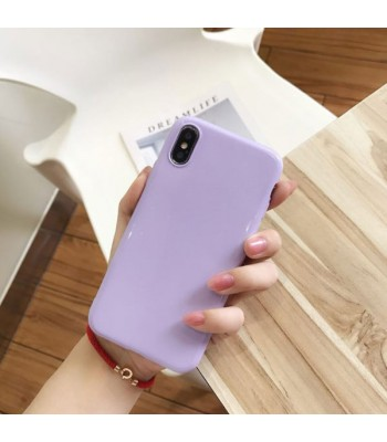 Minimalist Candy Pure Color iPhone Case For iPhone X/Xs
