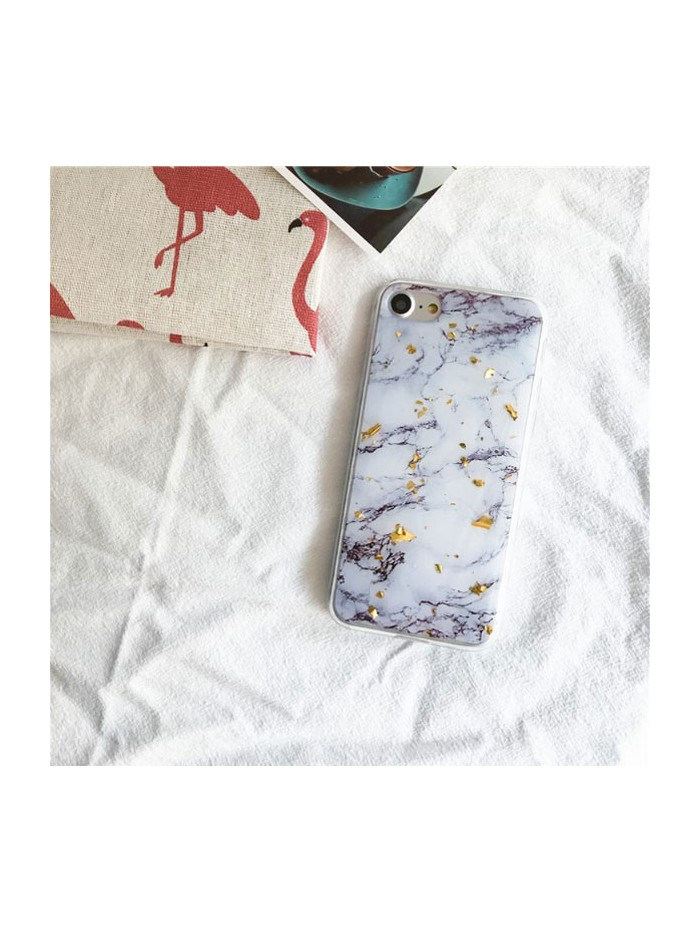 Luxury Marble Gold Flakes iPhone Case