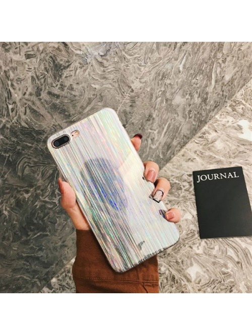 Silver Shooting Star Holographic iPhone Case