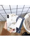 White Bronzing Marble iPhone Case