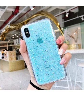 Glitter Powder iPhone Case - Blue