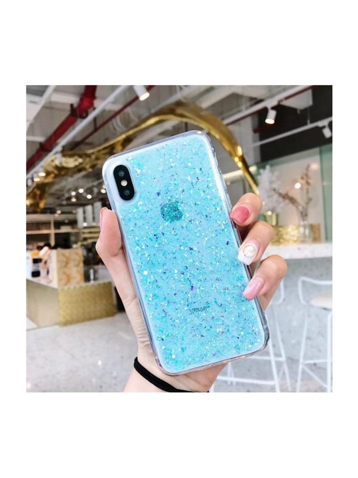 Glitter Powder iPhone Case - Blue