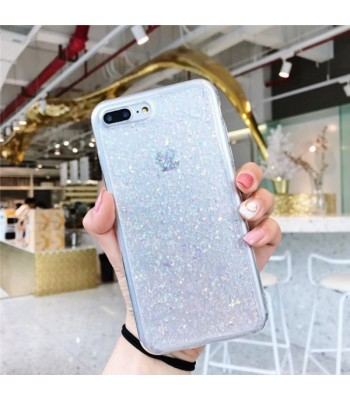 Glitter Powder iPhone Case - Silver