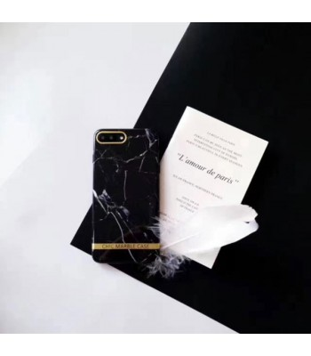 Chic Bronzing Bar Black Marble iPhone Case
