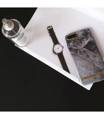 Chic Bronzing Bar Grey Marble iPhone Case