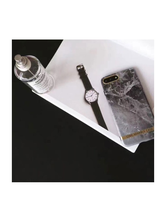 Chic Bronzing Bar Grey Marble iPhone Case