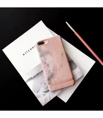 Chic Bronzing Bar Pink Marble iPhone Case