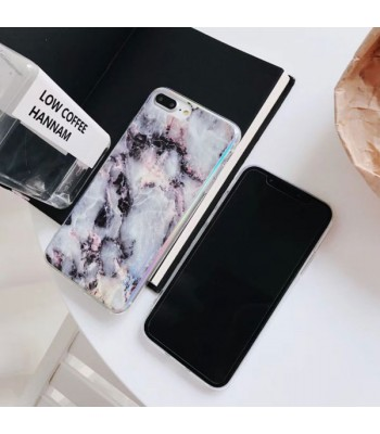 Luxury Holographic Marble Effect iPhone Case