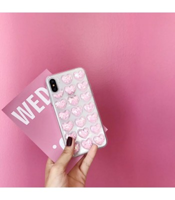 Glitter 3D Hearts iPhone Case - Sparkle Pink