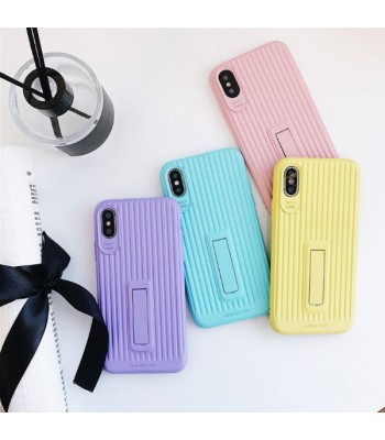 Pure Color Luggage Design iPhone Case With Kickstand